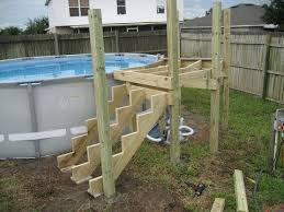 How to Build a Ladder or Steps for an Above Ground Pool YouTube