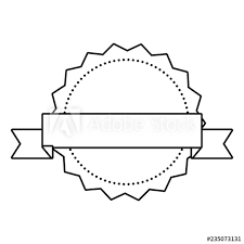 Ribbon Banner Template Black And White Label Ribbon Banner Blank Template Buy This Stock Vector