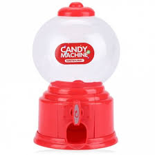Vending Machine Piggy Bank Delectable Red Cute Mini Candy Gumball Dispenser Vending Machine Saving Coin