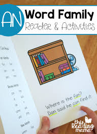Activities Word Learn To Read An Word Family Reader And Activities This Reading Mama