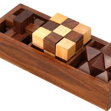 Wooden Games For Adults Amazon 100inOne Wooden Puzzle Games Set 100D Puzzles for 28