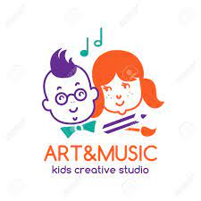 Music, videos, tour news, merchandise, and more. Art And Music Children Studio Logo Design With Boy And Girl Royalty Free Cliparts Vectors And Stock Illustration Image 80906909