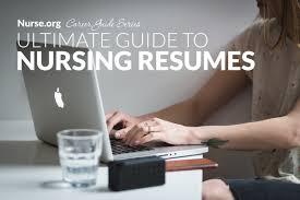 Ultimate Resumes Nursing Resume The Ultimate Guide For 2018 Nurse Org