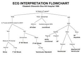 Ecg Interpretation Flow Chart Ekg Interpretation Medical