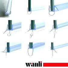 rv shower door sweep maellous shower door bottom seal shower door seal bottom glass shower door