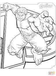 The Hulk Coloring Pages Avengers Page Free Printable 12401682