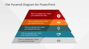 Ppt Pyramid 5 Levels Flat Pyramid Diagram Template For Powerpoint