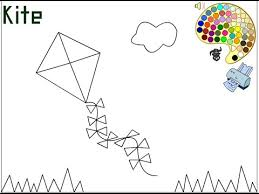 Small Picture Kite Coloring Pages For Kids Kite Coloring Pages YouTube