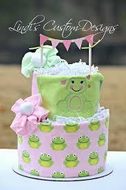 Diaper Cake Baby Girl Love Frog Lindis Custom Designs