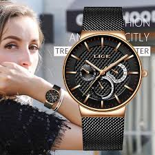 Online Shop LIGE <b>Womens Watches</b> Top Brand Luxury Waterproof ...