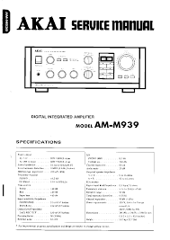 akai am m939 sm service manual schematics eeprom akai am m939 sm service manual schematics eeprom repair info for electronics