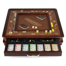 Wooden Board Games To Make A wood and faux leather Ron burgundy Monopoly and Woods 80