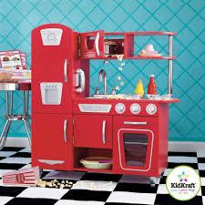 Red Retro Kitchen Kidkraft Vintage Wooden Play Kitchen Red Walmart Com Arafen