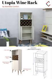 utopia furniture. Utopia Off White Maple MDF 4 Shelves Storage Wine Rack Furniture 3