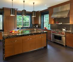 Black Marble Kitchen Countertops Awesome Kitchen Interior Design Wooden Laminated Cabinet Black