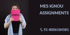 IGNOU MES SOLVED ASSIGNMENT FREE Download
