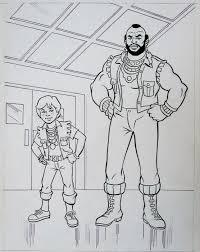 jim mooney originele pagina mr t and friends coloring book