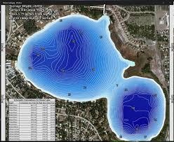 Contour Lake Maps Of Florida Lakes Bathymetric Maps Boat