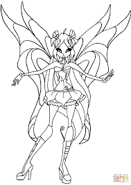 Flora From Winx Club Coloring Page Free Printable Coloring Pages