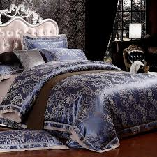 Luxury Dark Blue and Gold Royal Style Scroll Pattern Noble Excellence  Abstract Design Western Style Full, Queen Size Bedding Sets -  HipsterBedding.com