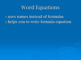 8 word equations what is the difference between a chemical reaction and physical