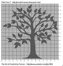 Free Filet Crochet Charts And Patterns Filet Crochet Tree C