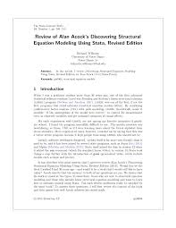 pdf review of alan acock s discovering structural equation modeling using stata revised edition