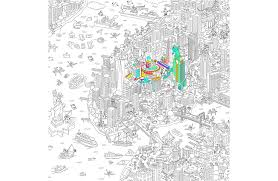 Coloriage G Ant Ville De New York Omy