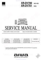 aiwa xr dv701 manuals
