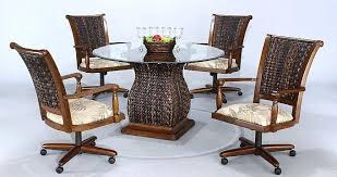 kitchen chairs with wheels awesome awesome dining room chairs on wheels ideas house design interior dining