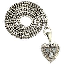 victorian scottish blue lace agate silver heart pendant book chain corvidae antique ruby lane