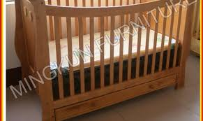 pine 3 in 1 wooden baby crib children bed from china factory