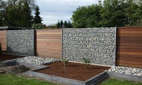 Painted Fences wood and gabion fence gabion wood fence decorating ideas t street 7018 by xevi.us