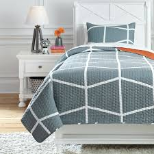 gray and orange bedding signature design by bedding sets twin gray orange coverlet set