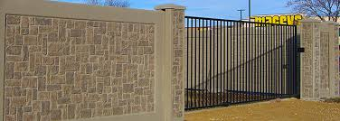 Small Picture Concrete Fence Gates StoneTree Concrete Fence walls