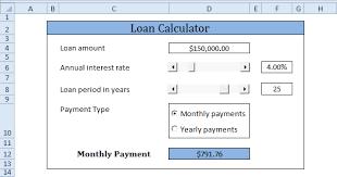 Mortgage Calculator Template Loan Calculator In Excel Vba Easy Excel Macros