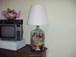 classic family room design with big glass toys insert fillable clear table lamp base designs acrylic