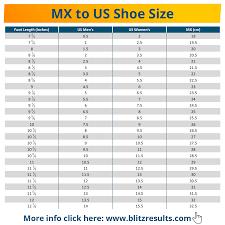 Children S Shoe Size Conversion Chart Mexico To Us Mexican Shoe Size Conversion Charts For Men Women Kids