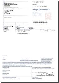 Example Of Bill Of Lading Document Documents Sent To You Japanese Car Auctions Integrity