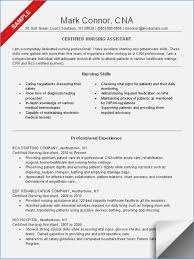 Objective On Resume For Cna Sample Resume For Cna Buildbuzz 64
