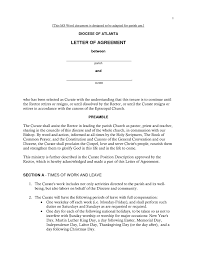 Sample Letter Of Agreement Letter Of Agreement Samples Template Learnhowtoloseweightnet 5