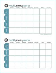 weekly menue planner click to print tpm customizable two week menu planner the