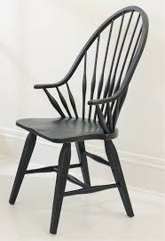 broyhill attic heirlooms black dining windsor arm chair