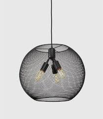 it industrial style meshed globe pendant light