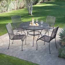 black wrought iron patio furniture. wrought iron patio oval dining table by woodard textured black hayneedle furniture