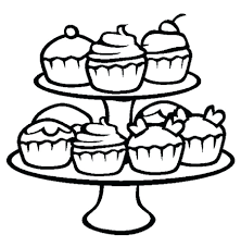 Cupcake Coloring Book Printable Money Coloring Pages For Kids