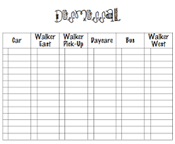 Dismissal Chart Spectacular 2nd Grade Getting Organized First Week Forms