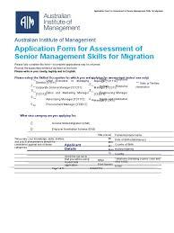 aim assessment senior management skills migration