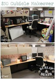 This is a cubicle makeover from Burlap and Denim. I love it! I don