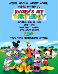 Mickey Mouse Invitations Online As Well As Free Mickey Mouse ...